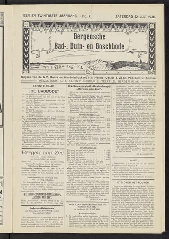Bergensche bad-, duin- en boschbode 1930-07-12