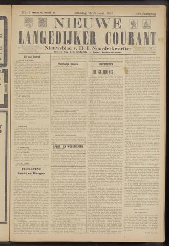 Nieuwe Langedijker Courant 1927-01-18