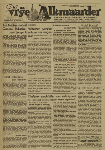 De Vrije Alkmaarder 1946-01-08