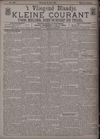 Vliegend blaadje : nieuws- en advertentiebode voor Den Helder 1887-04-20