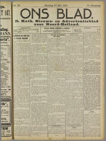 Ons Blad : katholiek nieuwsblad voor N-H 1913-05-27