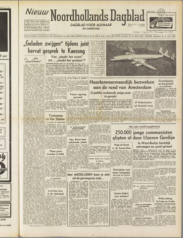 Nieuw Noordhollandsch Dagblad : voor Alkmaar en omgeving 1951-08-11