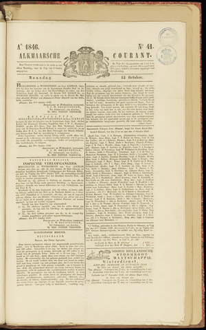 Alkmaarsche Courant 1846-10-12