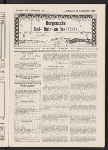 Bergensche bad-, duin- en boschbode 1929-08-10
