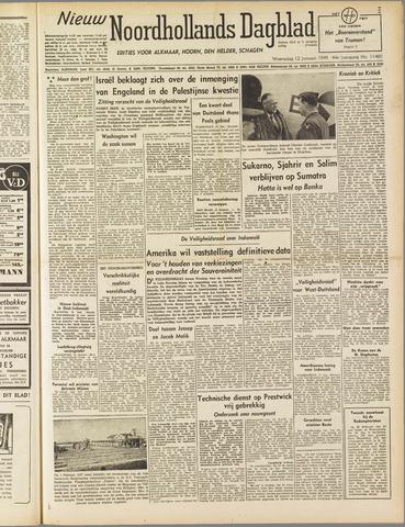 Nieuw Noordhollandsch Dagblad : voor Alkmaar en omgeving 1949-01-12