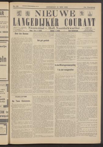 Nieuwe Langedijker Courant 1932-05-31