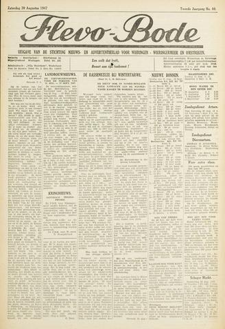 Flevo-bode: nieuwsblad voor Wieringen-Wieringermeer 1947-08-30