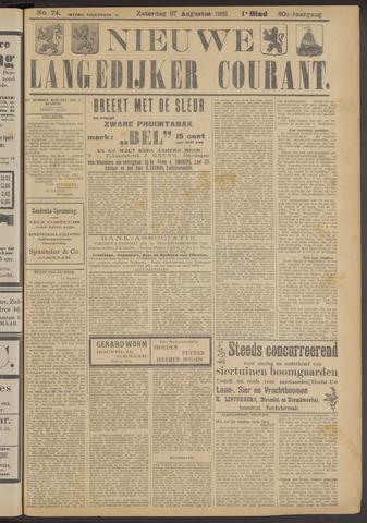Nieuwe Langedijker Courant 1921-08-27