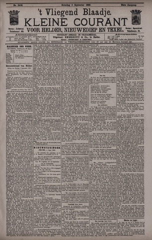 Vliegend blaadje : nieuws- en advertentiebode voor Den Helder 1896-09-05