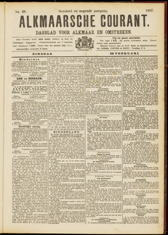 Alkmaarsche Courant 1907-02-26