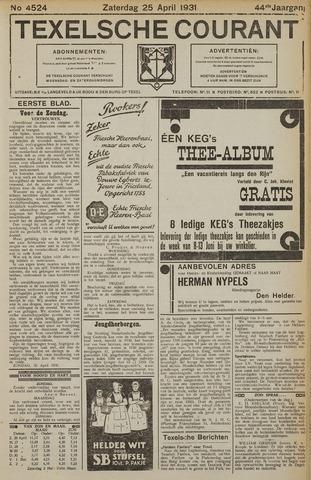 Texelsche Courant 1931-04-25