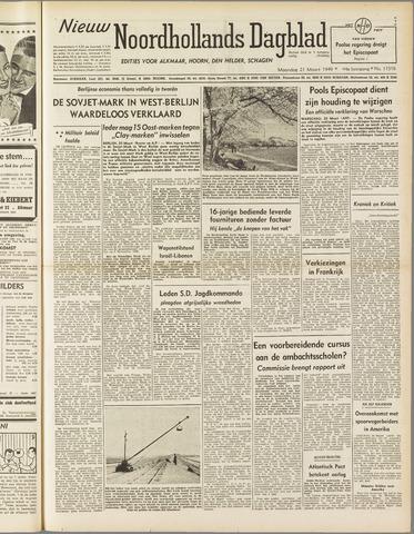Nieuw Noordhollandsch Dagblad : voor Alkmaar en omgeving 1949-03-21