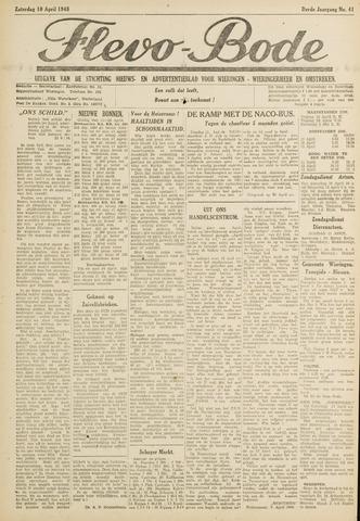 Flevo-bode: nieuwsblad voor Wieringen-Wieringermeer 1948-04-10