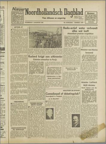 Nieuw Noordhollandsch Dagblad : voor Alkmaar en omgeving 1946-08-07