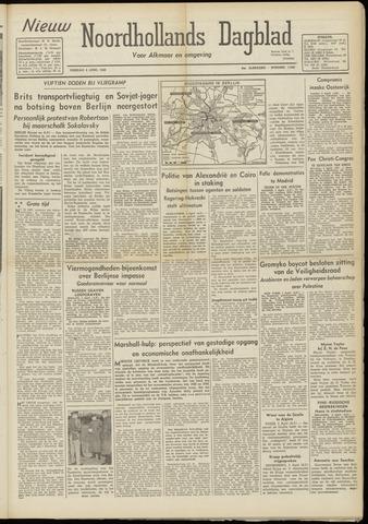 Nieuw Noordhollandsch Dagblad : voor Alkmaar en omgeving 1948-04-06