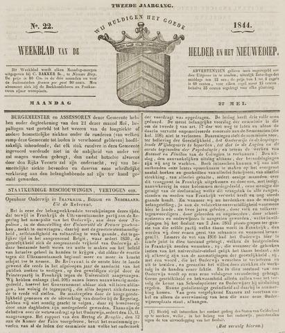 Weekblad van Den Helder en het Nieuwediep 1844-05-27