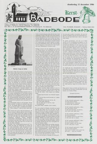 Badbode voor Callantsoog 1986-12-11