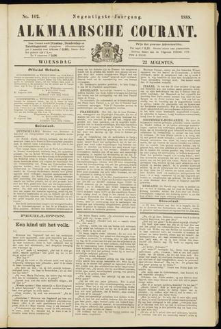 Alkmaarsche Courant 1888-08-22
