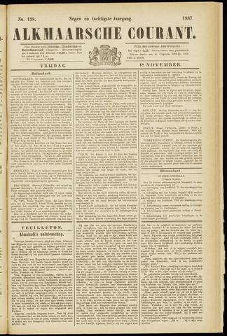 Alkmaarsche Courant 1887-11-18