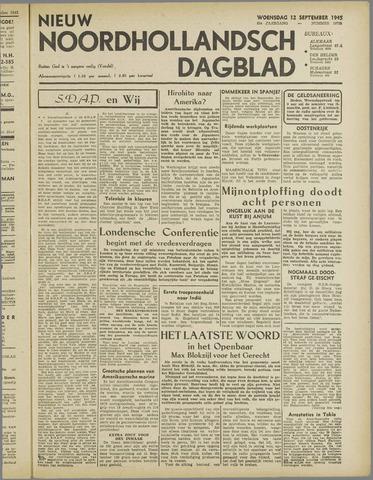 Nieuw Noordhollandsch Dagblad : voor Alkmaar en omgeving 1945-09-12