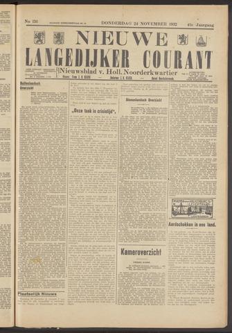 Nieuwe Langedijker Courant 1932-11-24