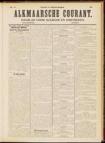 Alkmaarsche Courant 1911-04-01