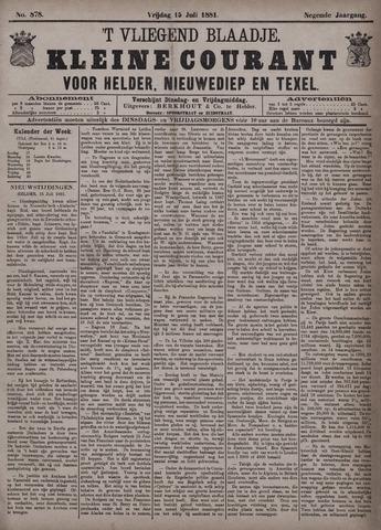 Vliegend blaadje : nieuws- en advertentiebode voor Den Helder 1881-07-15