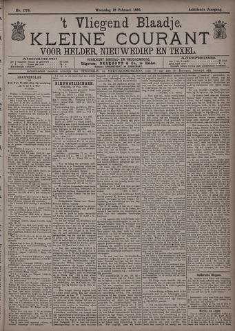 Vliegend blaadje : nieuws- en advertentiebode voor Den Helder 1890-02-19