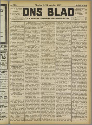 Ons Blad : katholiek nieuwsblad voor N-H 1916-11-14