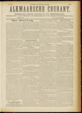 Alkmaarsche Courant 1915-11-26