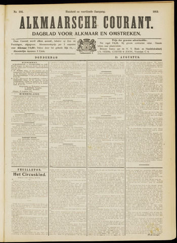 Alkmaarsche Courant 1912-08-15