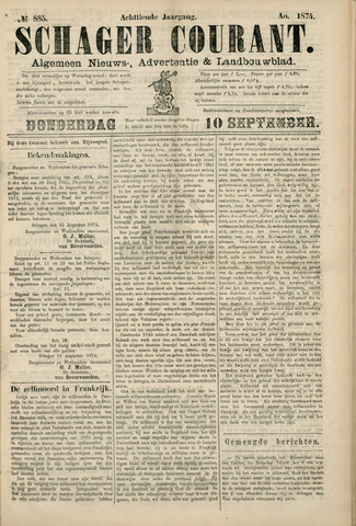 Schager Courant 1874-09-10