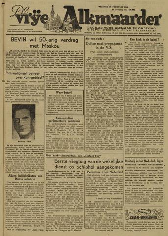 De Vrije Alkmaarder 1946-02-22