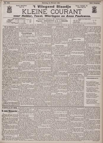 Vliegend blaadje : nieuws- en advertentiebode voor Den Helder 1906-02-24