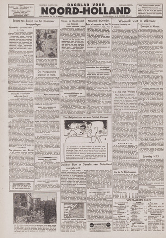 Dagblad Noord-Holland, Schager editie 1943-04-05