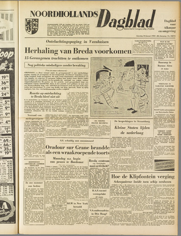Noordhollands Dagblad : dagblad voor Alkmaar en omgeving 1953-01-10