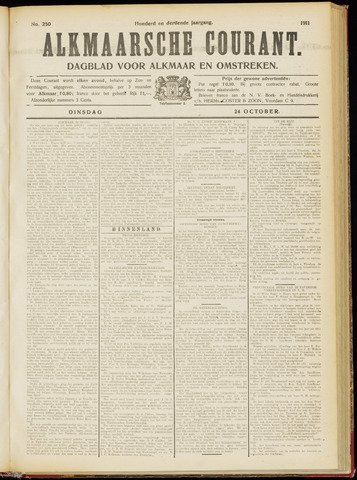 Alkmaarsche Courant 1911-10-24