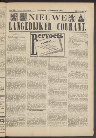 Nieuwe Langedijker Courant 1924-11-13