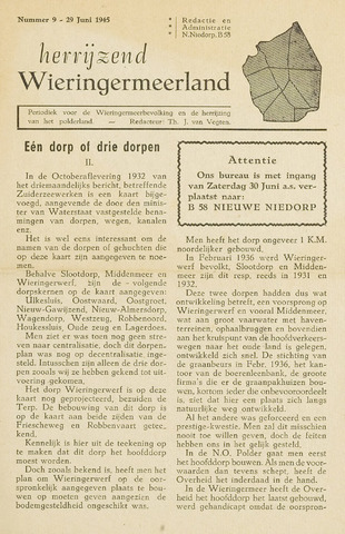 Herrijzend Wieringermeerland 1945-06-29