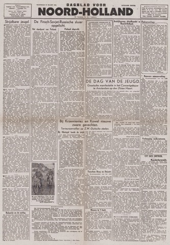 Dagblad Noord-Holland, Schager editie 1944-03-22