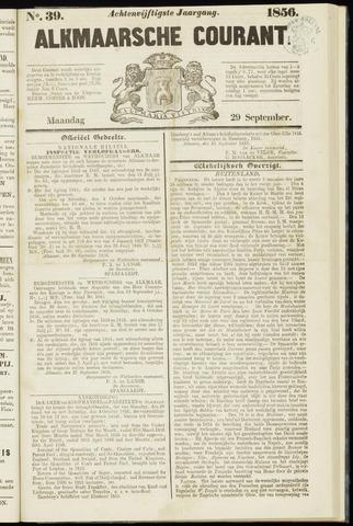 Alkmaarsche Courant 1856-09-29