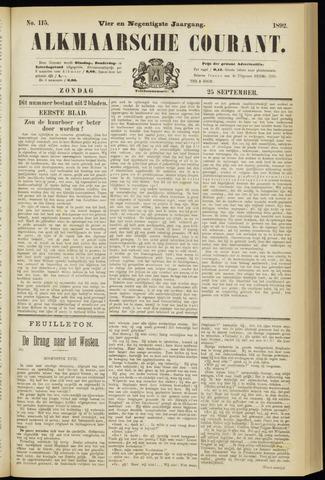 Alkmaarsche Courant 1892-09-25