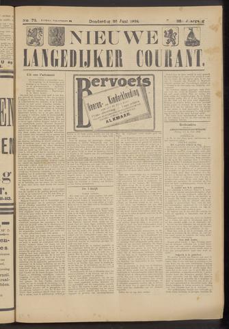 Nieuwe Langedijker Courant 1924-06-26