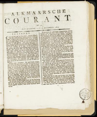 Alkmaarsche Courant 1815-12-11