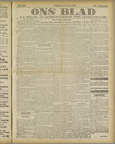 Ons Blad : katholiek nieuwsblad voor N-H 1919-06-06