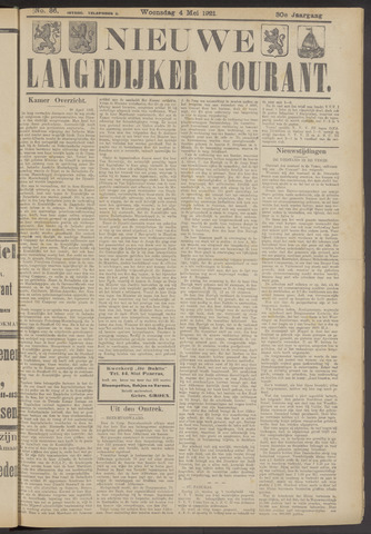 Nieuwe Langedijker Courant 1921-05-04
