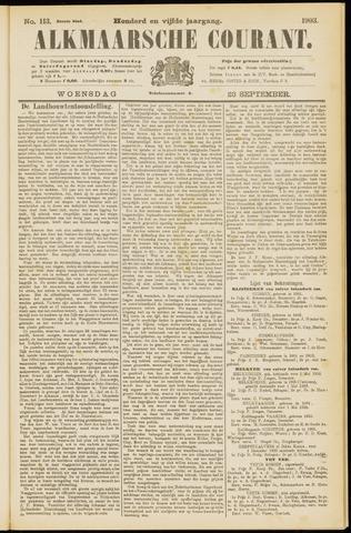 Alkmaarsche Courant 1903-09-23