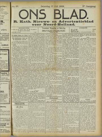 Ons Blad : katholiek nieuwsblad voor N-H 1909-07-17