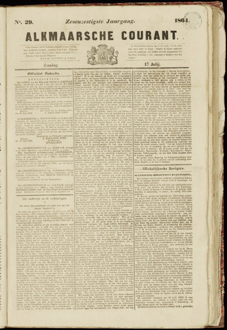 Alkmaarsche Courant 1864-07-17