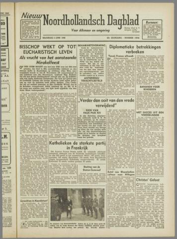Nieuw Noordhollandsch Dagblad : voor Alkmaar en omgeving 1946-06-03